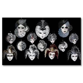 Αφίσα (μασκα, μαύρο, λευκό, άσπρο, καρναβάλι)